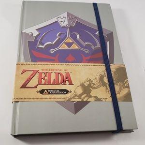 Grey Legend of Zelda Journal with Hyrule Shield
